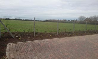 Bacton Housing Estate Fencing Case Study