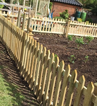 Vegetable Garden Picket Fence in Blofield