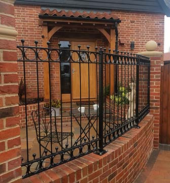 Metal Panel Fencing in Framlingham