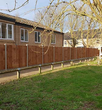 Concrete Post Fencing in Norwich